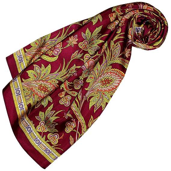 9d3ace05b21d Lorenzo Cana Foulard pour la femme – écharpe de 100% soie pour le printemps  et