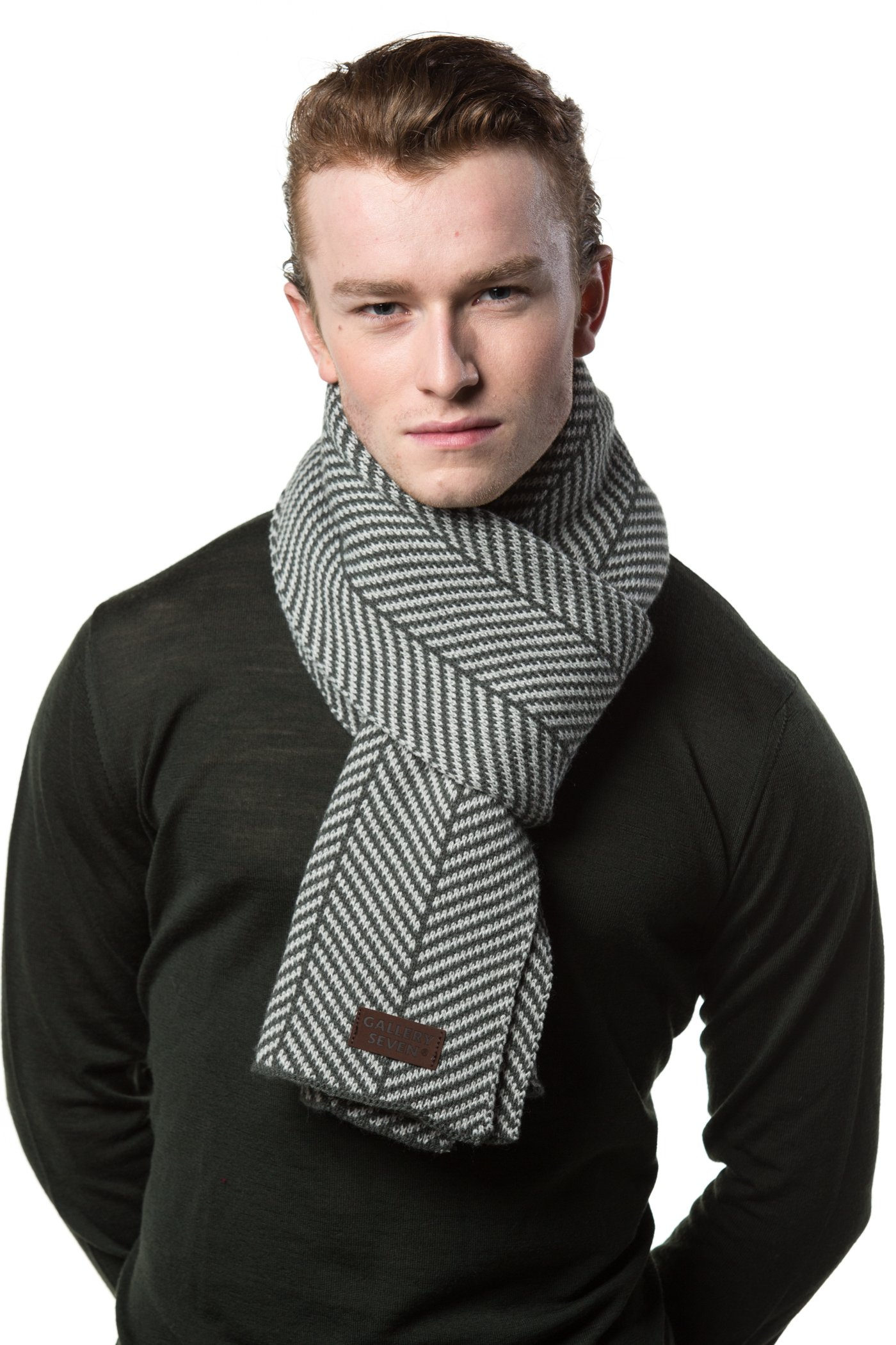 f3e79376ffa15 Gallery Seven Winter Scarf for Men, Soft Knit Scarve, in an Elegant Gift Box
