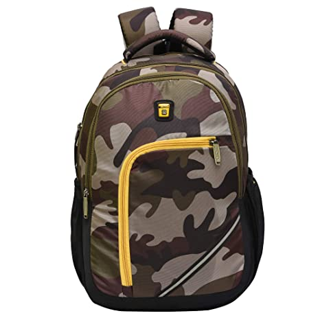 Blowzy Bags Waterproof College School Bag with Laptop Compartment  Military