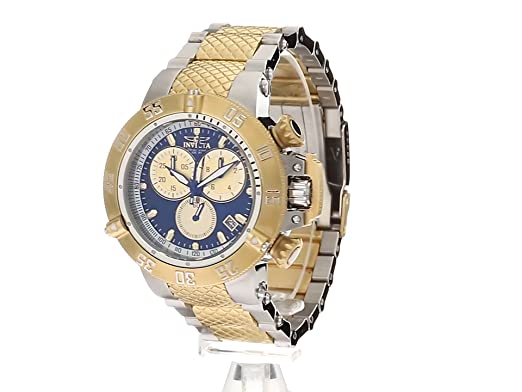 Amazon.com: Invicta Mens Subaqua Quartz Watch with Two-Tone-Stainless-Steel Strap, 27.2 (Model: 24721: Watches