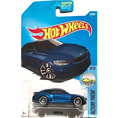 Hot Wheels 2020 Factory Fresh BMW Model M4 55/365, Blue: Toys & Games