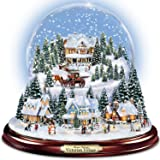 Thomas Kinkade Victorian Village Illuminated Musical Snow Globe by The Bradford Exchange