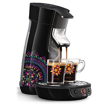 Senseo Viva Café HD7836/21 - Cafetera (Independiente, Máquina de café en cápsulas, 0,9 L, Dosis de café, 1450 W, Negro, Multicolor): Amazon.es: Hogar