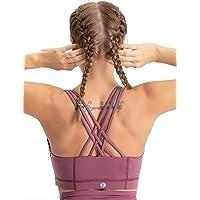 coastal rose Women's Zip Front Sports Bra Medium Impact Workout Running Crossback Yoga Tops