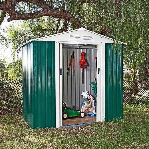 Catral CASETA Metalica Tools Green High Door, Verde: Amazon.es: Jardín
