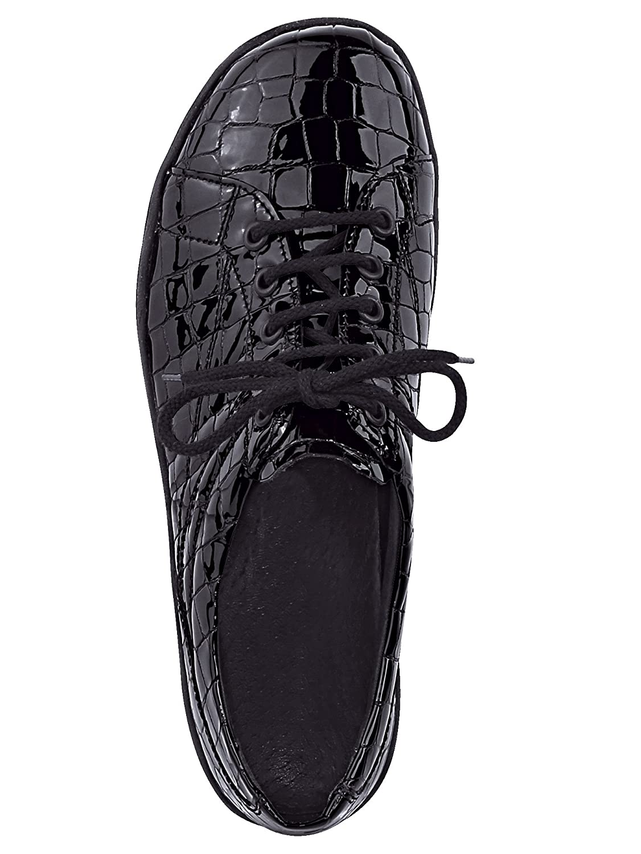 ARA Damen Schnürschuh im modernen modernen modernen LookSchwarz Krokolack fe052c