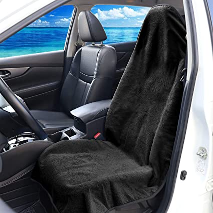 Premium Universal Auto Car Seat Cover Fit Gym Athletes Swimming Outdoor Sports COOLBEBE 2 Pack Waterproof Sweat Towel Seat Cover for Cars Trunk SUV Black