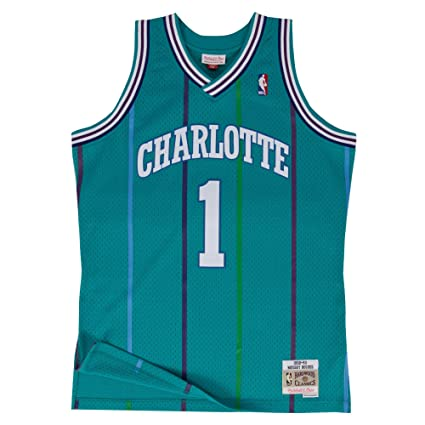 Mitchell   Ness Muggsy Bogues Charlotte Hornets Swingman Jersey Teal (Small) f089dbe7a
