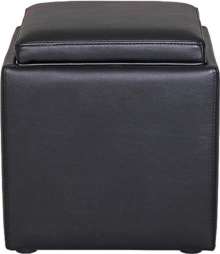 Amazon Brand Rivet Ross Modern Vegan Faux Leather Lift-Top Storage Ottoman Pouf
