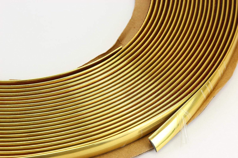 Unbranded 10 mm 5 m Gold GELB ZIERLEISTE Leiste Selbstklebend FLEXIBEL Auto Fur Motorrad