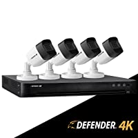 Deals on Defender 4K1T4B4 4 Channel 4K (8MP) Wired Security System