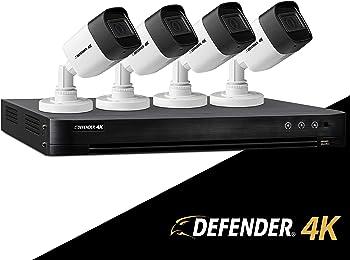Ultra HD 4K (8MP) 4 Channel 1TB DVR Security Camera System