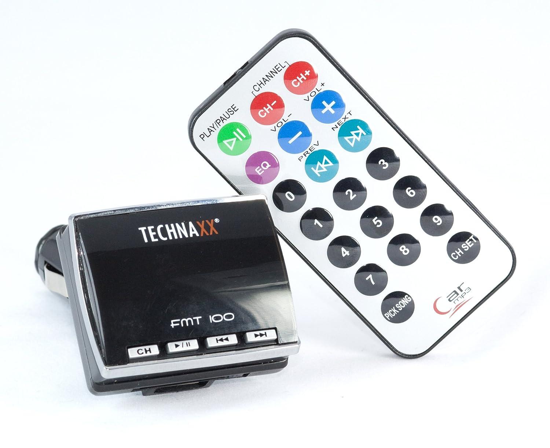 Technaxx FMT-600 BT Bluetooth FM-Transmitter mit Freisprecheinrichtung (LED Display, USB/Audio-Anschluss) schwarz FMT600BT