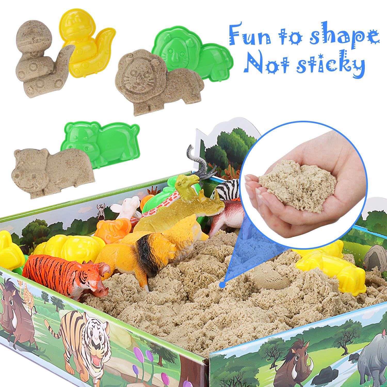 Play Sand Xddias Magic Sand Set Kinetischer Sand 500g Nat/ürlichen Indoor Spielsand f/ür Kinder