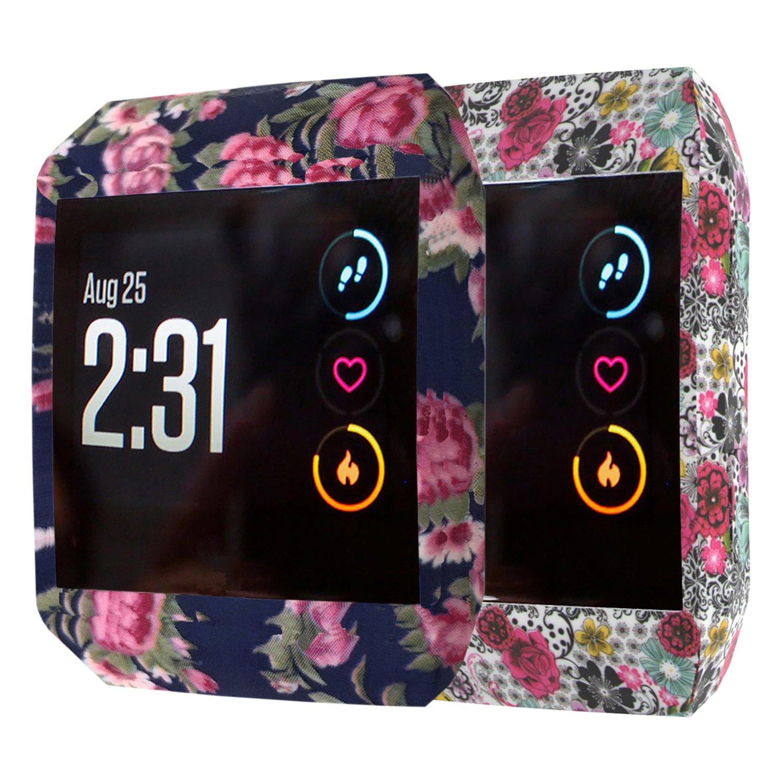 xiangmi Fitbit Ionic帯、ソフトシリコンスポーツ通気性用交換アクセサリーブレスレットストラップバンドの換気穴Fitbit Ionic Smart Fitness Watchレディースメンズ B07CQ9CJBP Cases-2pcs B