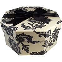 Foster Stephens Handmade | Colorful | Octagon | Hat Box | Medusa Black & White | Small : 13″ x 7.48