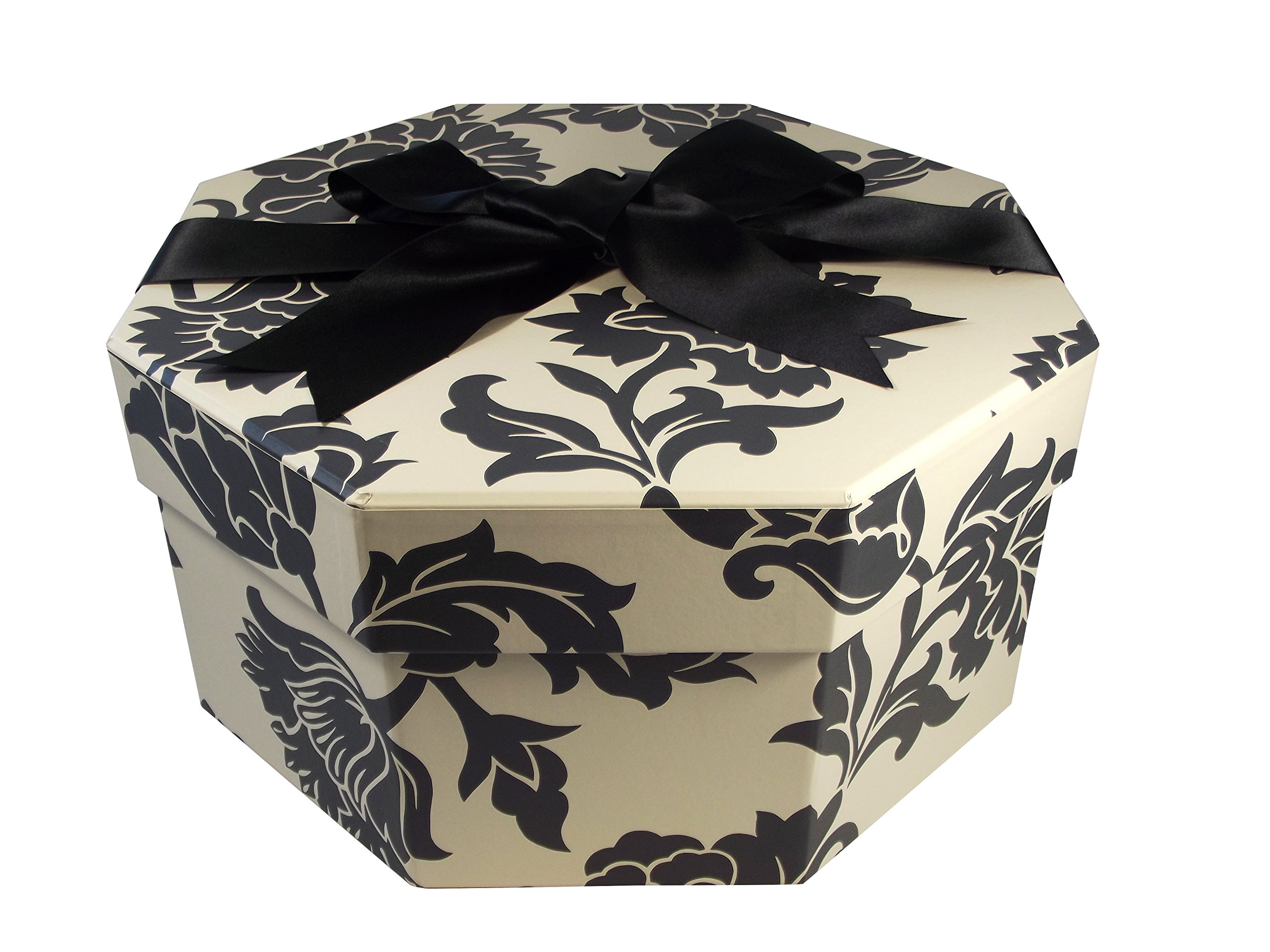 Foster-Stephens, inc Colorful Hat Box - Medusa Black & White (Medium: 15.75'' Diameter x 7.87'') by Foster-Stephens, inc
