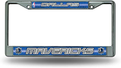 NBA Bling Chrome License Plate Frame with Glitter Accent