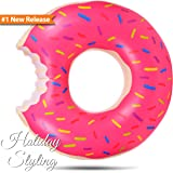 Holiday Styling Inflatable Donut Pool Float Pink By 48 Inches