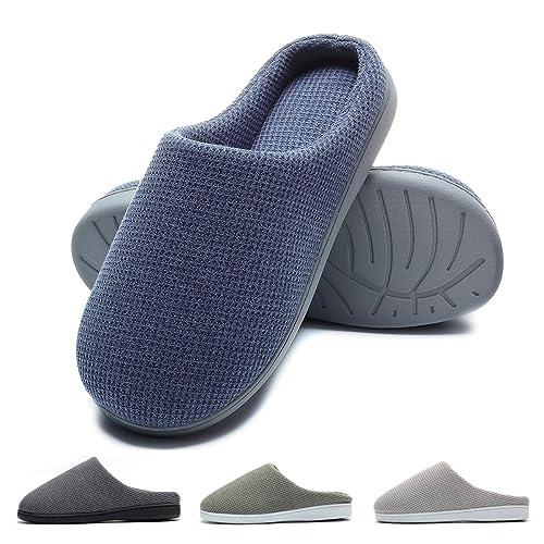Zapatillas de Casa de Hombre Invierno - Zapatillas Casa Ultraligero Cómodo y Antideslizante, Zapatilla de Estar por Casa para Hombre Fluff Antideslizantes: ...
