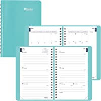 Blueline Weekly/Monthly Academic Planner, 13-Month, July 2020 to July 2021, Twin-Wire Binding, 8 X 5 Inches, Aqua…