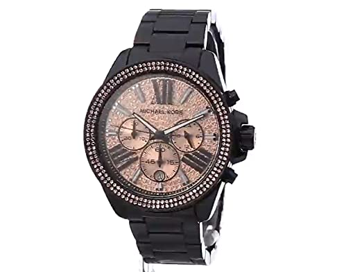aef3697f1afc Amazon.com  Michael Kors Women s Wren Black Watch MK5879  Michael Kors   Watches