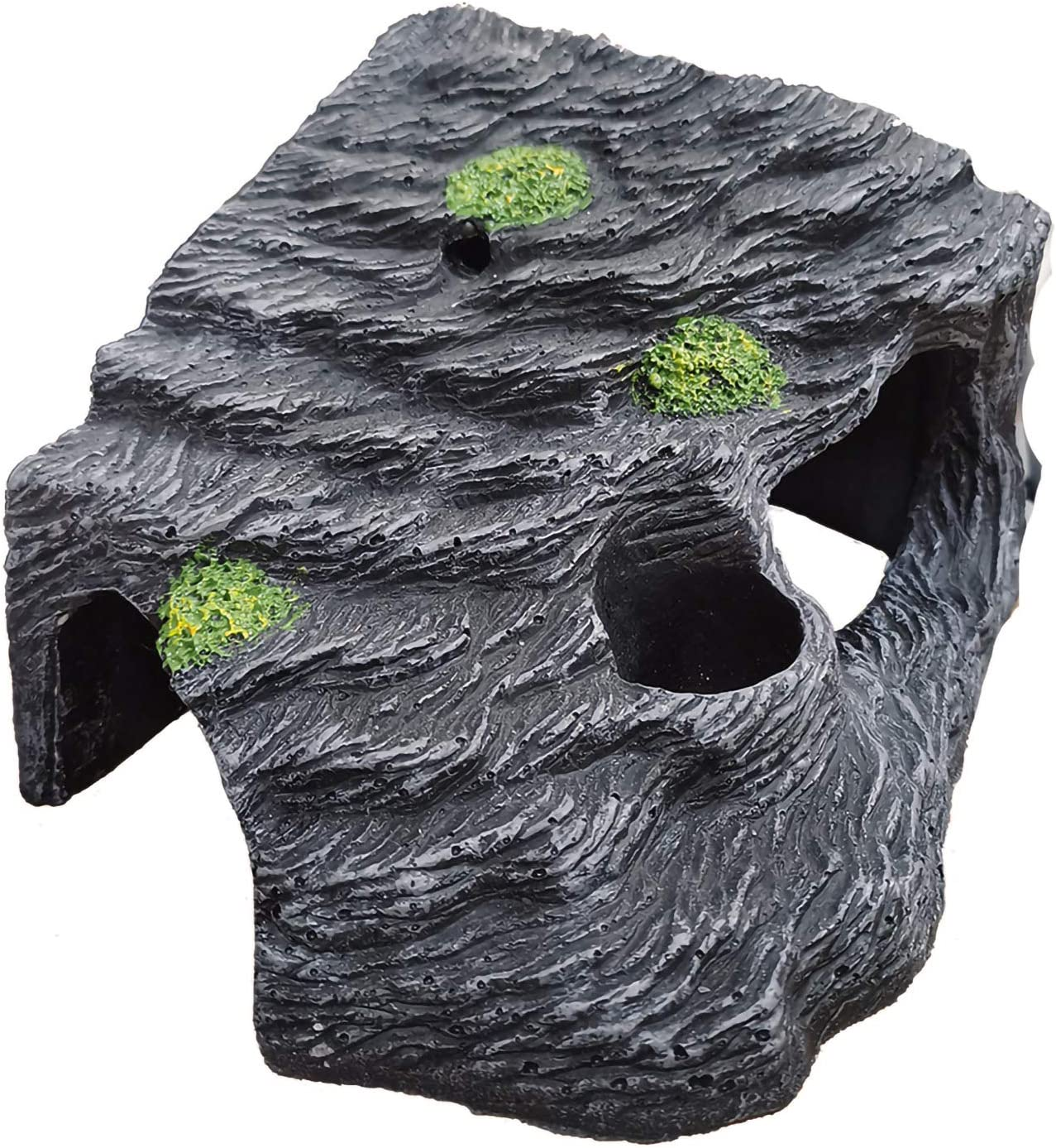 Hamiledyi Reptile Hideout,Reptile Habitat Decor,Aquarium Decoration Terrarium Resin Hideout for Leopard Gecko Cichlids Spiders Lizards Betta Fish