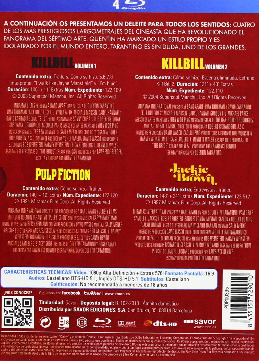 Pack Tarantino [Blu-ray]: Amazon.es: John Travolta, Pam Grier, Uma ...