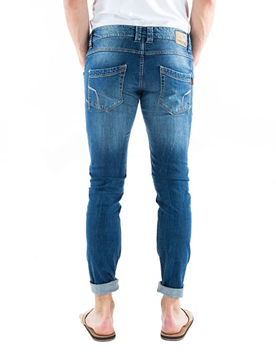Timezone Men's Slim Edo Skinny (Tight-Fitting Leg), Blau (Cross Street Wash  3303), 36W/30L: Amazon.co.uk: Clothing