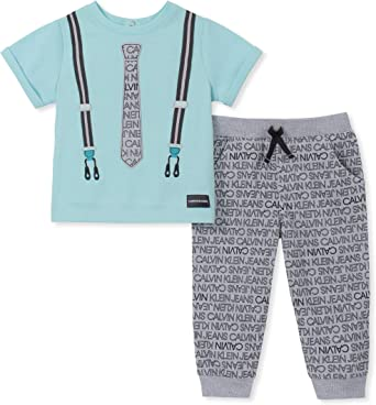Calvin Klein Juego De Pantalon De Chandal Para Ninos Multi 3 6 Meses Amazon Es Ropa Y Accesorios