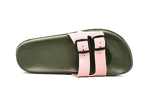 d5a6df925ceb thikko-usa Mens Double Buckle Slide Sandals EVA Waterproof (8