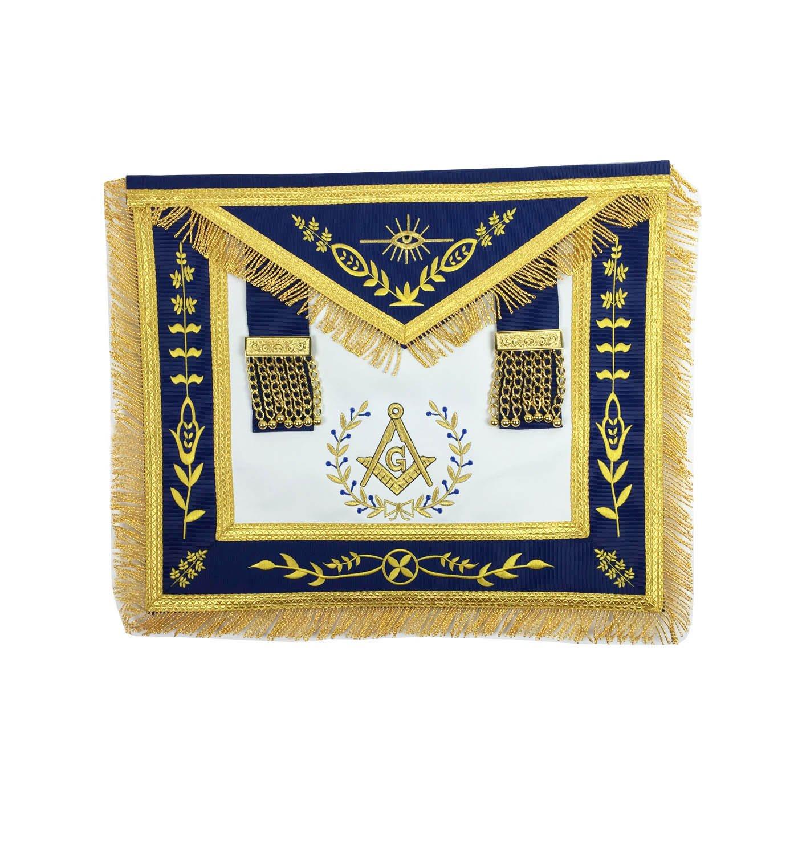 Masonic Grand Lodge Master Mason Apron Gold Machine Embroidery Apron by Unique Regalia