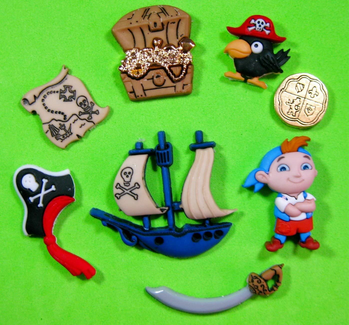 Loro del barco de la isla del tesoro del pirata Molde de silicona ...