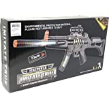 INCHOI JOYSAE Light Up Combat Toy Machine Rifle Battery Operated with Military Sound