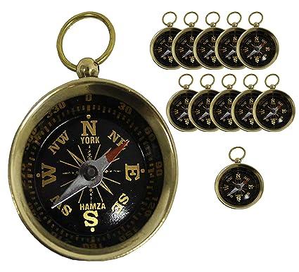 Antique Open Face Compasses Locket Vtg Pendent Compass Men Women Leather Case Ld Antiques