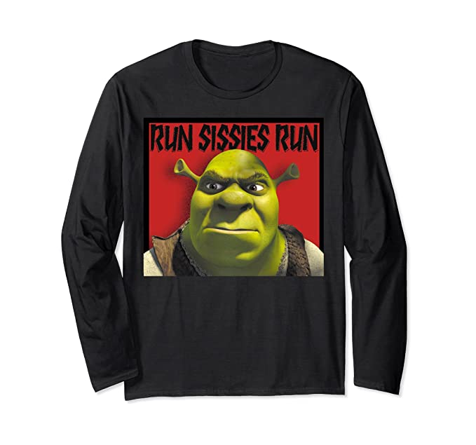 Amazon.com: DreamWorks Shrek Run Sissies Long Sleeve: Clothing