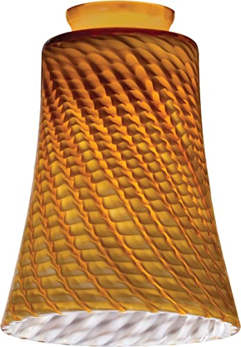 Lithonia Lighting DCBL 1009 M6 Decorative Concave Bell Shade, Amber Twist