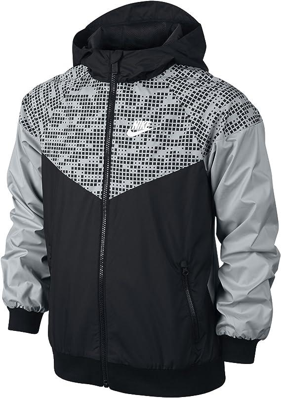 Atar Altitud pastel  Nike Sportswear Windrunner Big Kids' (Boys') Jacket (Small, Black/Wolf  Grey/Black), Camping & Hiking - Amazon Canada