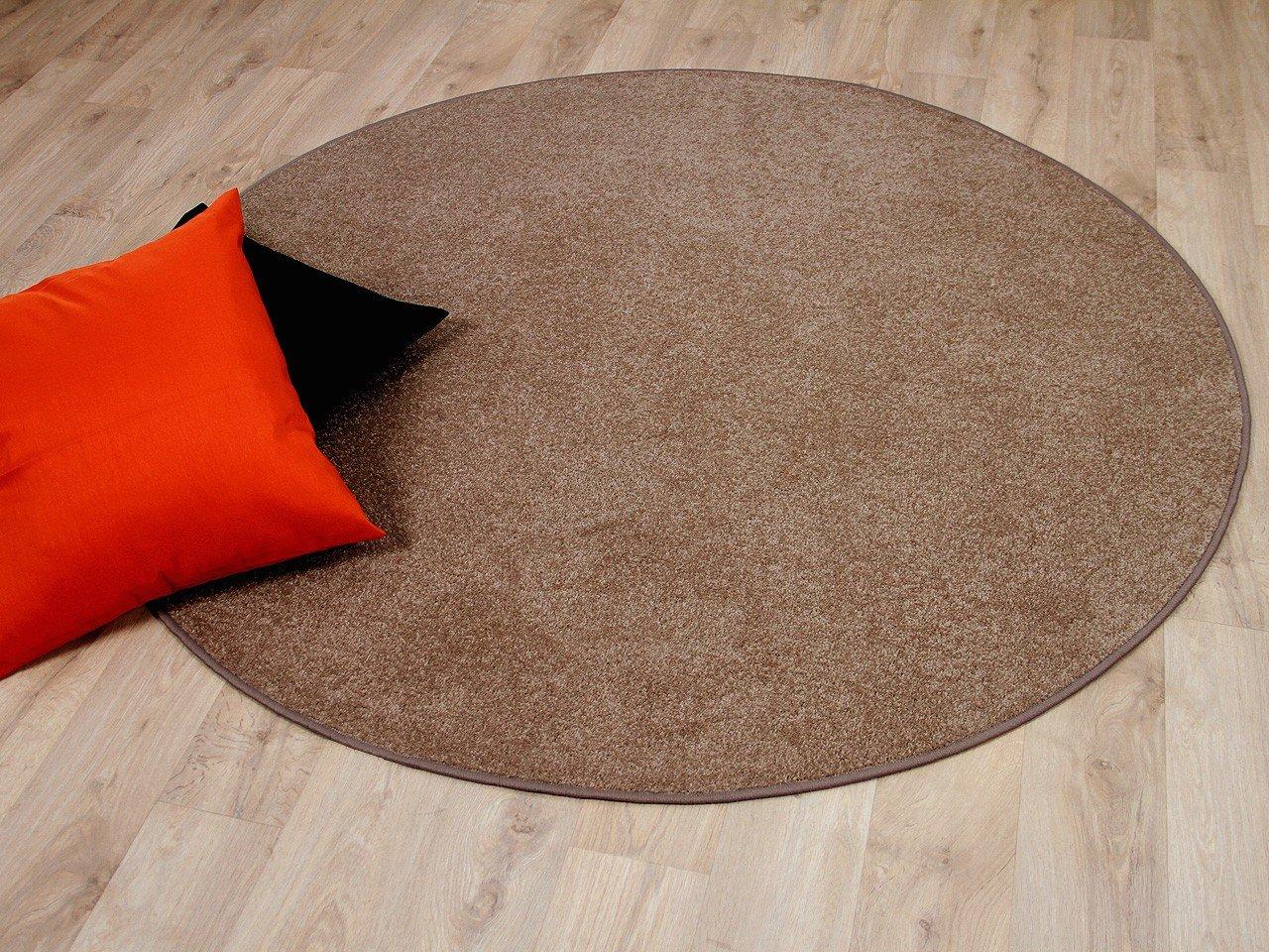 Trend Velour Teppich Joy Karamell Rund in 7 Größen