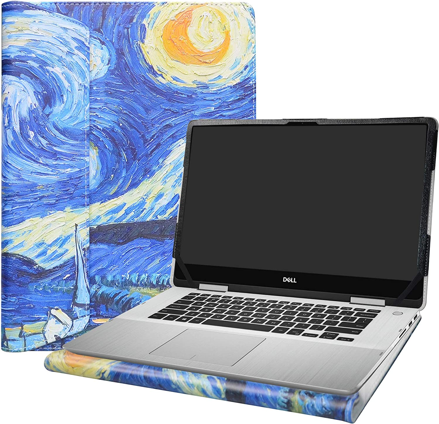 """Alapmk Protective Case Cover for 15.6"""" Dell inspiron 15 2-in-1 7586 i7586 & Acer Aspire 7 15 A715-73G Laptop[Note:Not fit inspiron 15 7580/Aspire 7 A715-74G A715-71G A715-72G],Starry Night"""