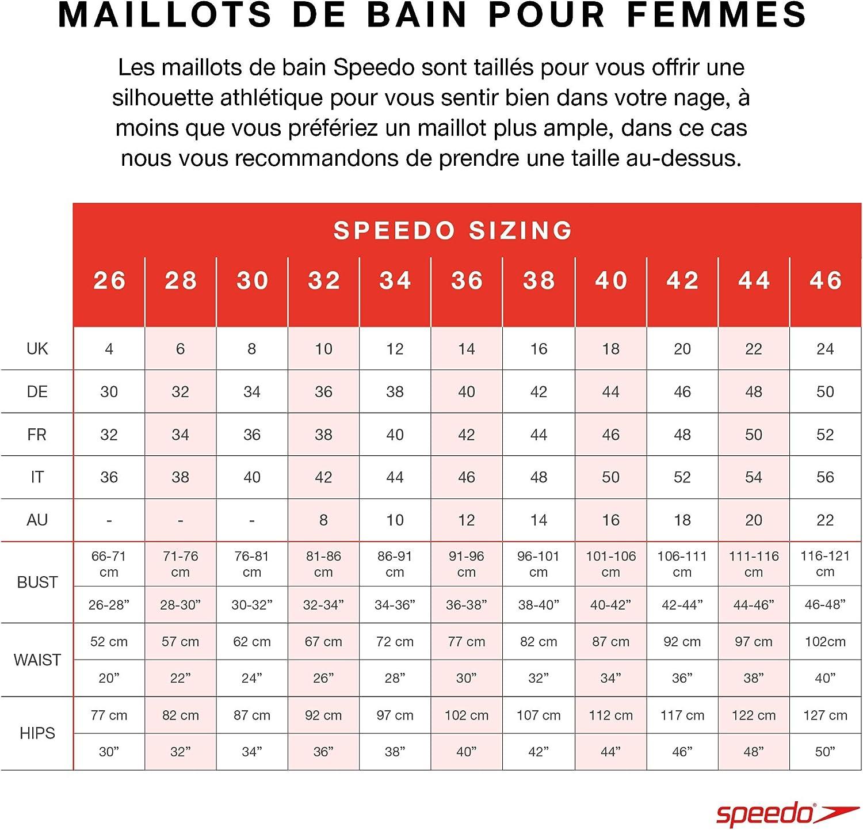 Speedo Fit Laneback Maillot Une pi/èce Femme