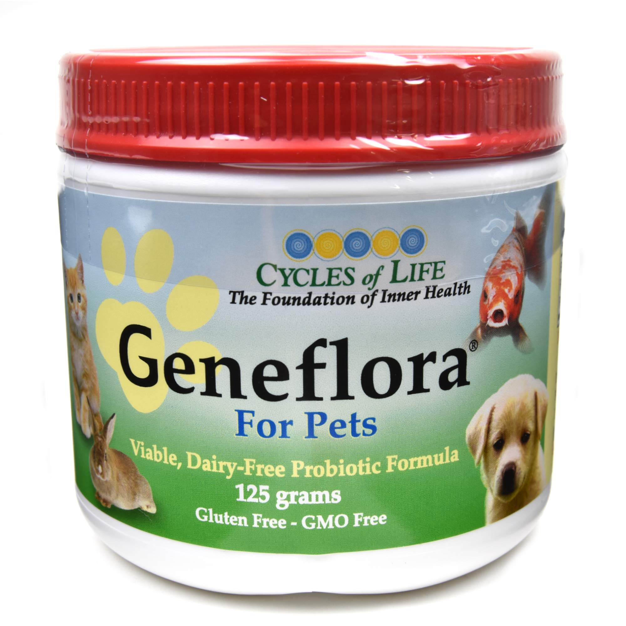 GENEFLORA - The Original Probiotic Powder Forumla for Dogs, Cats, and other Pets - Veterinarian Recommended - 125 Grams By Activhealth