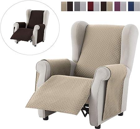 Colore Marrone textil-home Salvadivano Trapuntato Copridivano Malu 3 posti Reversibile