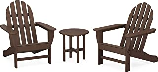 product image for POLYWOOD PWS417-1-MA Classic 3-Piece Chair Side Table Adirondack Seating Set, Mahogany