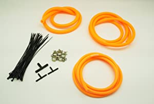 Autobahn88 Engine Room Silicone Vacuum Hose Dress Up DIY Kit, Fit All Models of Ford (Orange)