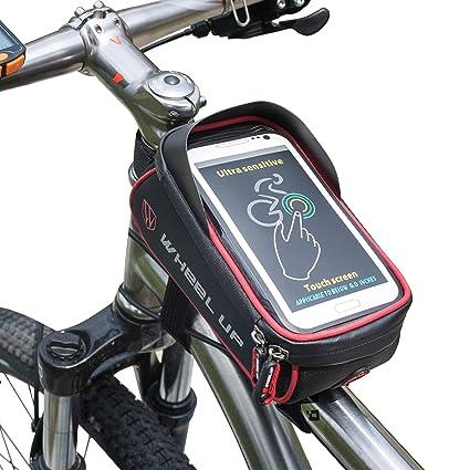 Wheelup Cuadro De Bicicleta Bolso Tubo Superior de Bicicleta Funda con TPU Touch Pantalla Orificio para Auriculares para tel/éfono de 6/Pulgadas Resistente al Agua