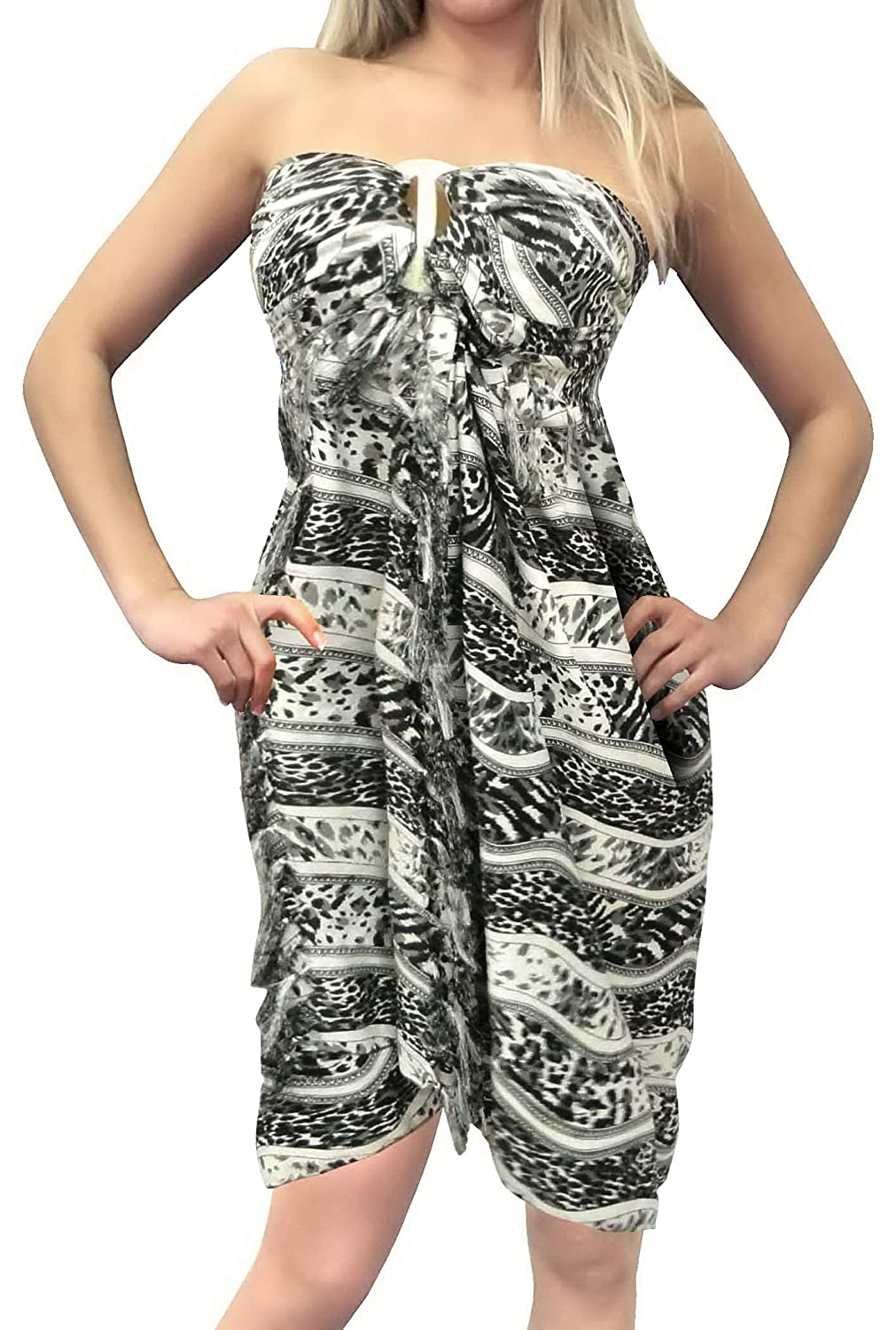 e9373224a8 LA LEELA Soft Light Resort Scarf Deal Dress Sarong Printed 72