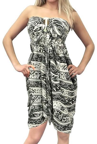 4bd5a74a81 LA LEELA Women's Plus Size Swimsuit Cover Up Summer Beach Wrap Skirt Full  Long B