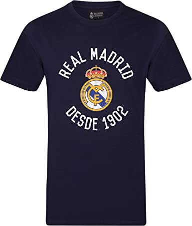 Real Madrid - Camiseta Oficial para Hombre - Serigrafiada: Amazon ...