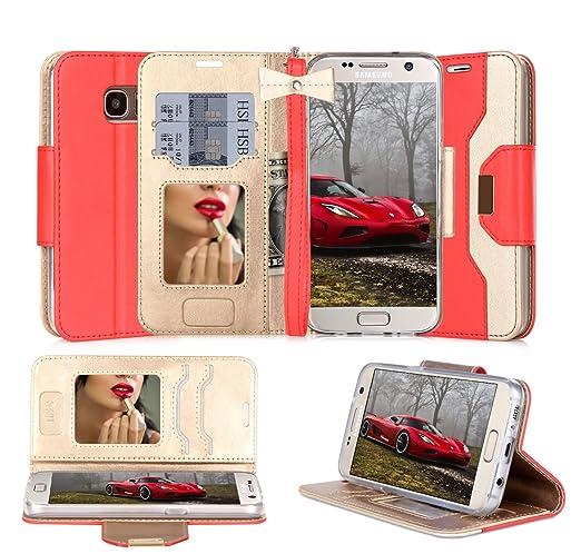 45 opinioni per Custodia Galaxy S7 Edge, Cover Galaxy S7 Edge, Fyy® Pelle Premia Portafoglio